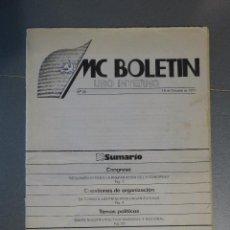 Coleccionismo de Revistas y Periódicos: MC BOLETÍN - USO INTERNO Nº 20 (15 DE OCTUBRE DE 1977) - TRANSICIÓN - MOVIMIENTO COMUNISTA DE ESPAÑA. Lote 195279027