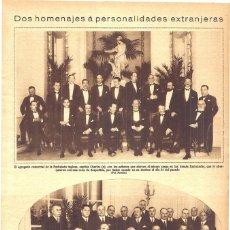 Coleccionismo de Revistas y Periódicos: 1928 HOJA REVISTA BANQUETE JUNTA DE ULTRAMAR EN HONOR DE EMBAJADOR ARGENTINO SR. ESTRADA. Lote 195279540