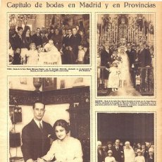 Coleccionismo de Revistas y Periódicos: 1928 HOJA REVISTA MADRID BODA MARÍA GONZÁLEZ DE RADA Y CESAR MACÍAS VILLALVA. Lote 195280158