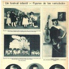 Coleccionismo de Revistas y Periódicos: 1928 HOJA REVISTA MADRID CÍRCULO DE BELLAS ARTES FESTIVAL INFANTIL NIÑOS COLEGIO DE SAN ISIDORO. Lote 195280905