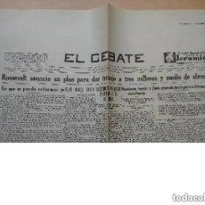Coleccionismo de Revistas y Periódicos: FACSIMIL PERIODICO EL DEBATE. MADRID. ROOSEVELT ANUNCIA UN PLAN TRABAJO OBREROS. 1935 NUM 7885. Lote 195282818