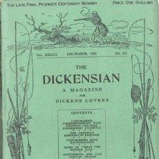 Coleccionismo de Revistas y Periódicos: THE DICKENSIAN. A MAGAZINE FOR DICKENS LOVERS. DICIEMBRE 1936. Lote 195284076
