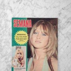 Coleccionismo de Revistas y Periódicos: SEMANA - 1972 - MARISOL, MONICA VITTI, RAPHAEL, MASSIEL, CANDICE BERGEN, ALAIN DELON, KARINA. Lote 195284935