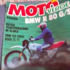 Coleccionismo de Revistas y Periódicos: REVISTA MOTO VERDE NÚM. 26 BMW R 80, DERVI 75 , MONTESA COTA 123, MONTESA EN DURO-250 H. Lote 195296227