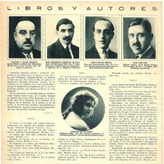 Coleccionismo de Revistas y Periódicos: 1928 HOJA REVISTA ESCRITORES AUTORES DR. CÉSAR JUARROS, EDMUNDO GONZÁLEZ BLANCO, LUIS DE OTEYZA. Lote 195302453