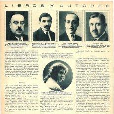 Coleccionismo de Revistas y Periódicos: 1928 HOJA REVISTA ESCRITORES AUTORES JOSÉ MAS, GUILLERMO DÍAZ CANEJA, ENRIQUE MENESES, LUIS ARAUJO. Lote 195302573