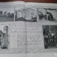 Coleccionismo de Revistas y Periódicos: RAFAEL CASANOVAS SAN BAUDILIO LLOBREGAT MOYA ALFONSO XIII DIRIGIBLE ESPAÑA CERVERA COCHEROS 1913. Lote 195303266