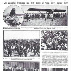 Coleccionismo de Revistas y Periódicos: 1928 HOJA REVISTA ARGENTINA AVIACIÓN AVIADORES FRANCESES LEBRIX Y COSTES VUELO PARÍS-BUENOS AIRES. Lote 195304252