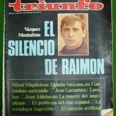 Coleccionismo de Revistas y Periódicos: REVISTA TRIUNFO. AÑO XXIV Nº 408 - 28 DE MARZO DE 1970. - A-REV-1705. Lote 195314028