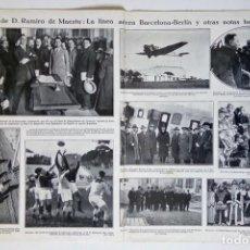 Coleccionismo de Revistas y Periódicos: 1928 HOJAS REVISTA BARCELONA INAUGURACIÓN LÍNEA AÉREA BARCELONA-BERLÍN AÉRODROMO AVIÓN JUNKER. Lote 195324393