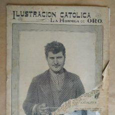 Coleccionismo de Revistas y Periódicos: LA HORMIGA DE ORO. AÑO 1912. Nº 25. SAN JUAN GALI, SAGUNTO, BARCELONA AVION, MATARO, REUS,. Lote 195325081