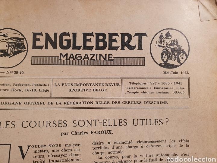 Coleccionismo de Revistas y Periódicos: 2 REVISTAS DE COCHES FRANCESAS. AÑOS 20. ENGLEBERT. - Foto 5 - 195327623