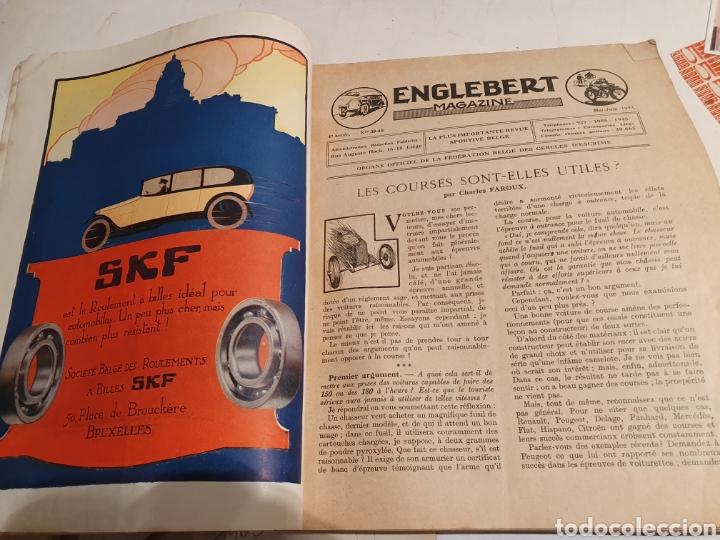 Coleccionismo de Revistas y Periódicos: 2 REVISTAS DE COCHES FRANCESAS. AÑOS 20. ENGLEBERT. - Foto 8 - 195327623
