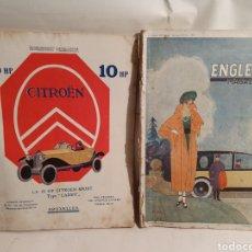 Coleccionismo de Revistas y Periódicos: 2 REVISTAS DE COCHES FRANCESAS. AÑOS 20. ENGLEBERT.. Lote 195327623