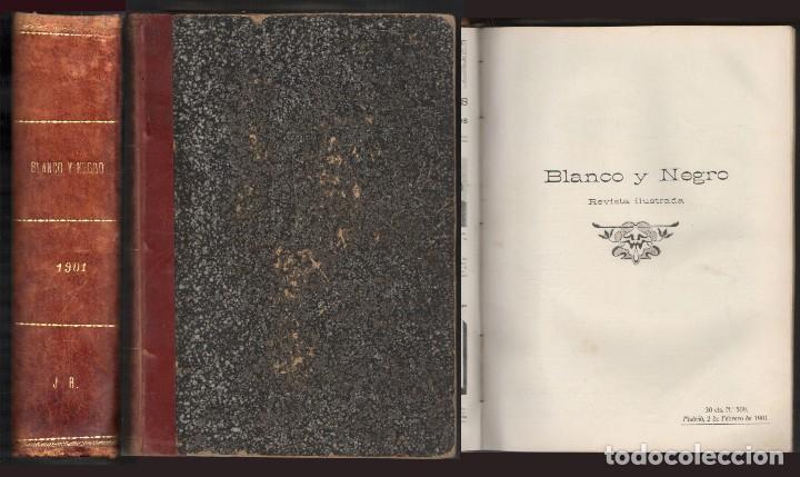 REVISTA ILUSTRADA BLANCO Y NEGRO. AÑO 1901. - A-REVIL-0482 (Coleccionismo - Revistas y Periódicos Antiguos (hasta 1.939))