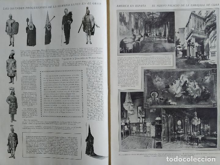 Coleccionismo de Revistas y Periódicos: LA SEMANA GRAFICA. AÑO 1927, Nº 40. SEMANA SANTA EL GRAO, CABAÑAL, MONGRELL, OSTARIZ - Foto 4 - 195332008