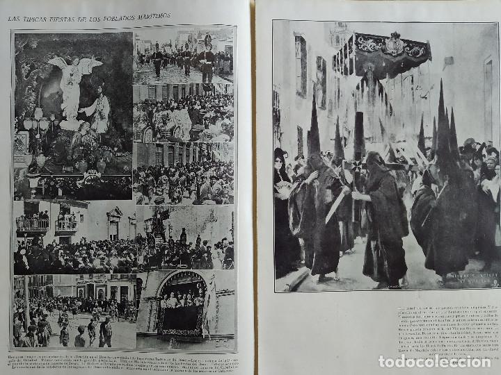 Coleccionismo de Revistas y Periódicos: LA SEMANA GRAFICA. AÑO 1927, Nº 40. SEMANA SANTA EL GRAO, CABAÑAL, MONGRELL, OSTARIZ - Foto 5 - 195332008