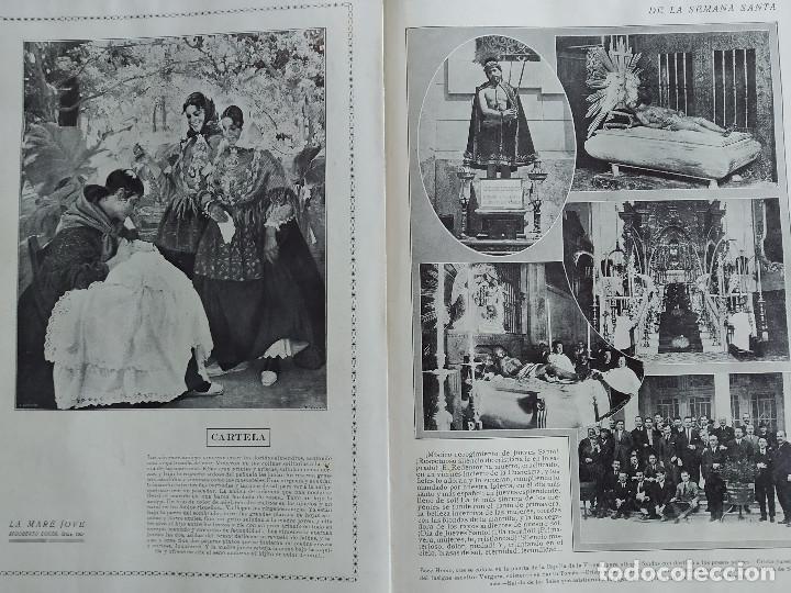 Coleccionismo de Revistas y Periódicos: LA SEMANA GRAFICA. AÑO 1927, Nº 40. SEMANA SANTA EL GRAO, CABAÑAL, MONGRELL, OSTARIZ - Foto 7 - 195332008
