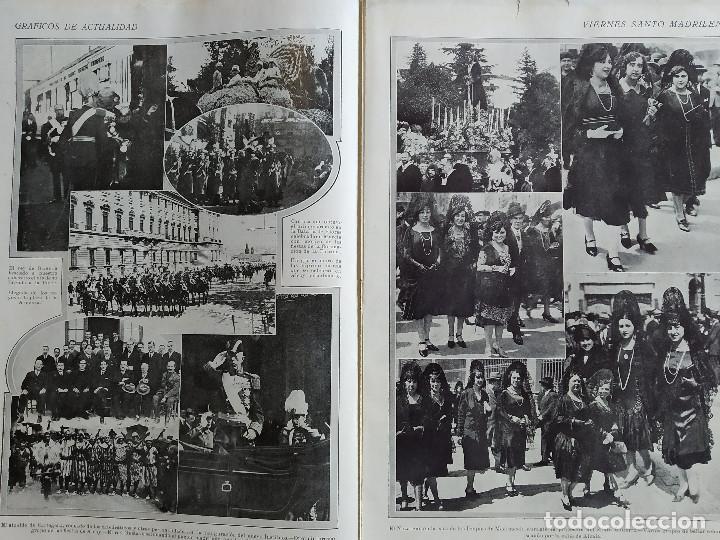 Coleccionismo de Revistas y Periódicos: LA SEMANA GRAFICA. AÑO 1927, Nº 41. VIERNES SANTO MURCIA, MOROS Y CR. ALCOY, CARTAGENA, VALENCIA, - Foto 2 - 195332373