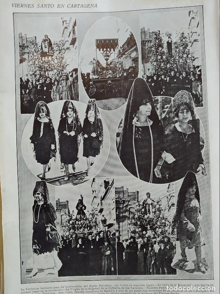 Coleccionismo de Revistas y Periódicos: LA SEMANA GRAFICA. AÑO 1927, Nº 41. VIERNES SANTO MURCIA, MOROS Y CR. ALCOY, CARTAGENA, VALENCIA, - Foto 4 - 195332373