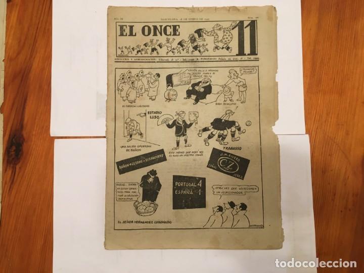 REVISTA EL ONCE NOTICIAS DE FUTBOL, CRONICAS Y RESULTADOS Nº 106 AÑO1947 PORTUGAL 4 ESPAÑA 1 (Coleccionismo - Revistas y Periódicos Antiguos (hasta 1.939))