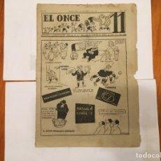 Coleccionismo de Revistas y Periódicos: REVISTA EL ONCE NOTICIAS DE FUTBOL, CRONICAS Y RESULTADOS Nº 106 AÑO1947 PORTUGAL 4 ESPAÑA 1. Lote 195340803