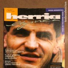 Coleccionismo de Revistas y Periódicos: HERRIA EGINEZ 41. ZENBAKIA (1996KO ABENDUA). JAKES BORTAIRU, DOSIERRA: DEMOKRAZIA ETA BAKEA. Lote 195340921