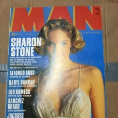 Coleccionismo de Revistas y Periódicos: REVISTA MAN #63 SHARON STONE ON COVER DARYL HANNAH. Lote 195340958