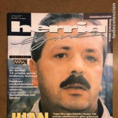 Coleccionismo de Revistas y Periódicos: HERRIA EGINEZ 40. ZENBAKIA (1996KO AZAROA). JUAN MARI OLANO, DOSIERRA: KAPITALISMOSREN UNEA,.... Lote 195340996