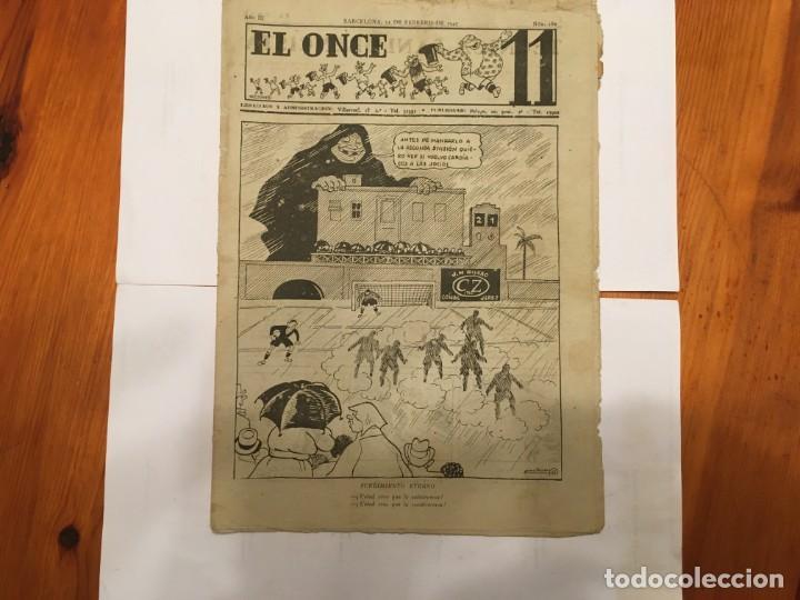 REVISTA EL ONCE NOTICIAS DE FUTBOL, CRONICAS Y RESULTADOS Nº 180 AÑO 1947 A SEGUNDA (Coleccionismo - Revistas y Periódicos Antiguos (hasta 1.939))