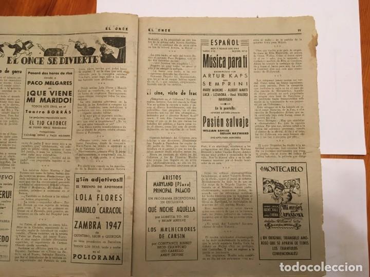Coleccionismo de Revistas y Periódicos: revista EL ONCE noticias de futbol, cronicas y resultados nº 180 año 1947 a segunda - Foto 2 - 195341038