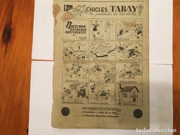 Coleccionismo de Revistas y Periódicos: revista EL ONCE noticias de futbol, cronicas y resultados nº 180 año 1947 a segunda - Foto 3 - 195341038