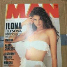 Coleccionismo de Revistas y Periódicos: REVISTA MAN #59 ILONA ILLESOVA ON COVER VALERIA MONTENEGRO NAOMI CAMPBELL. Lote 195341043