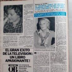Coleccionismo de Revistas y Periódicos: MICHELE MORGAN. Lote 195343502