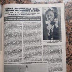 Coleccionismo de Revistas y Periódicos: VIUDAS MILLONARIAS DESAPARECIDAS EN CRUCEROS DE LUJO. Lote 195344396
