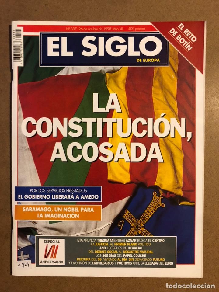 EL SIGLO DE EUROPA N° 337 (1998). LA CONSTITUCIÓN ACOSADA, ETA ANUNCIA TREGUA,... (Coleccionismo - Revistas y Periódicos Modernos (a partir de 1.940) - Otros)