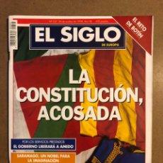 Coleccionismo de Revistas y Periódicos: EL SIGLO DE EUROPA N° 337 (1998). LA CONSTITUCIÓN ACOSADA, ETA ANUNCIA TREGUA,.... Lote 195344680