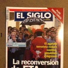 Coleccionismo de Revistas y Periódicos: EL SIGLO DE EUROPA N° 336 (1998). LA RECONVERSIÓN DE ETA S.A., PUJOL PIERDE FUERZA,.... Lote 195344695