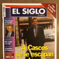Coleccionismo de Revistas y Periódicos: EL SIGLO DE EUROPA N° 326 (1998). CASCOS, BORRELL, PIQUÉ, EL GAL, PUJOL,.... Lote 195344782