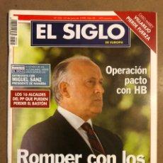 Coleccionismo de Revistas y Periódicos: EL SIGLO DE EUROPA N° 322 (1998). ARZALLUS OPERACIÓN PACTO CON HB, VILLAREJO CASO MAREY,... Lote 195344841