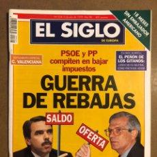 Coleccionismo de Revistas y Periódicos: EL SIGLO DE EUROPA N° 324 (1998). PSOE VS PP, RELACIONES GOMEZ LIAÑO NARCOS,.... Lote 195344866