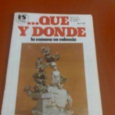 Coleccionismo de Revistas y Periódicos: REVISTA ...QUE Y DONDE Nº29 2 AL 8 DE OCTUBRE DE 1978. Lote 195345417