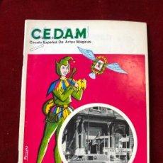Coleccionismo de Revistas y Periódicos: CEDAM. Nº 71-72. CIRCULO ESPAÑOL DE ARTES MÁGICAS - VV.AA. ABRIL - JULIO 1969. Lote 195355091