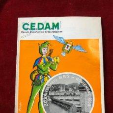 Coleccionismo de Revistas y Periódicos: CEDAM. Nº 73. CIRCULO ESPAÑOL DE ARTES MÁGICAS - VV.AA. OCTUBRE 1969. Lote 195355135