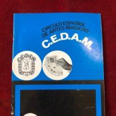 Coleccionismo de Revistas y Periódicos: CEDAM. Nº 75. CIRCULO ESPAÑOL DE ARTES MÁGICAS - VV.AA. ABRIL 1970. Lote 195355240