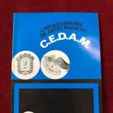 Coleccionismo de Revistas y Periódicos: CEDAM. Nº 76. CIRCULO ESPAÑOL DE ARTES MÁGICAS - VV.AA. JULIO 1970. Lote 195355336