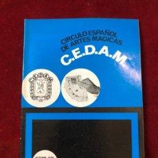 Coleccionismo de Revistas y Periódicos: CEDAM. Nº 77. CIRCULO ESPAÑOL DE ARTES MÁGICAS - VV.AA. OCTUBRE 1970. Lote 195355378