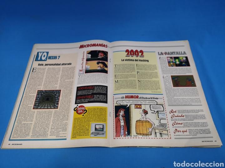 Coleccionismo de Revistas y Periódicos: REVISTA MICROMANÍA NÚMERO 38 MICRO MANÍA - Foto 2 - 195366797