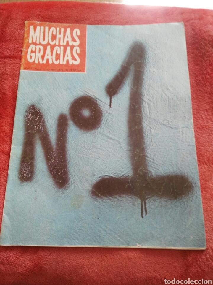 REVITA MUCHAS GRACIAS N.1 AÑO 1976 (Coleccionismo - Revistas y Periódicos Modernos (a partir de 1.940) - Otros)