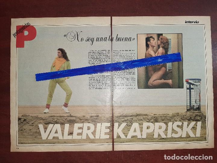 VALERIE KAPRISKI - ENTREVISTA - RECORTE 3 PAG - REVISTA INTERVIU AÑO 1984 (Coleccionismo - Revistas y Periódicos Modernos (a partir de 1.940) - Otros)